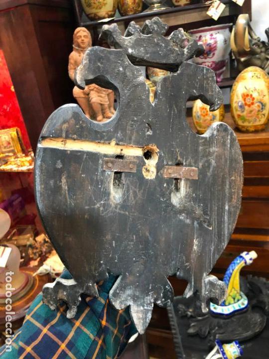 Antigüedades: MAGNIFICA PAREJA DE APLIQUE CANDELABROS MADERA TALLADA Y CERAMICA TALAVERA DE PRINCIPIO SIGLO XX - Foto 7 - 161876558
