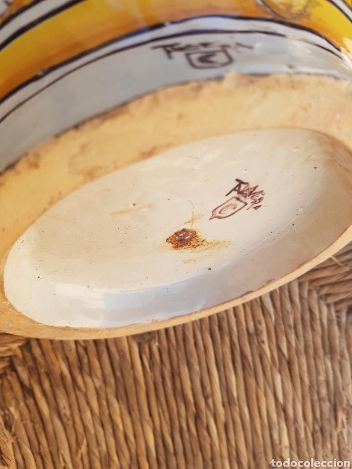 BASE JARRÓN GRANDE DE TALAVERA DOBLE FIRMA RUIZ DE LUNA (Antigüedades - Porcelanas y Cerámicas - Talavera)