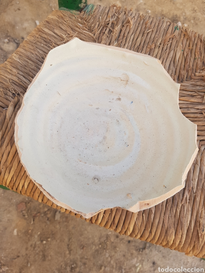 Antigüedades: Base jarrón grande de Talavera doble firma Ruiz de Luna - Foto 5 - 161880074