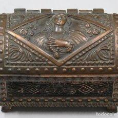 Antigüedades: ANTIGUO COFRE O JOYERO DE COBRE. SIGLO XIX. Lote 161883698