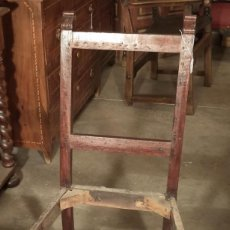 Antigüedades: SILLA DE CAOBA RESTAURADA. Lote 161888558