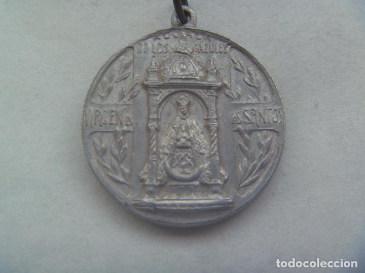 ANTIGUA MEDALLA DEL CORAZON DE JESUS Y VIRGEN DE LOS SANTOS, ALCALA DE LOS GAZULES ( CADIZ ) (Antigüedades - Religiosas - Medallas Antiguas)