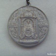 Antigüedades: ANTIGUA MEDALLA DEL CORAZON DE JESUS Y VIRGEN DE LOS SANTOS, ALCALA DE LOS GAZULES ( CADIZ ). Lote 161893226