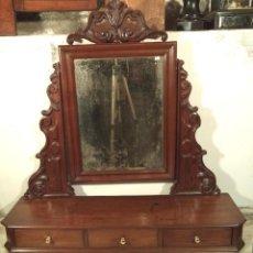 Antigüedades: TOCADOR DE SOBREMESA ISABELINO DE CAOBA. Lote 161894006