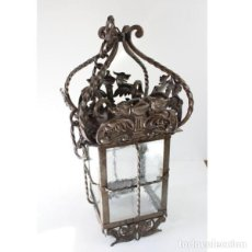 Antigüedades: ANTIGUO FAROL DE FORJA. Lote 161910054
