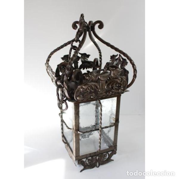 Antigüedades: Antiguo farol de forja - Foto 2 - 161910054