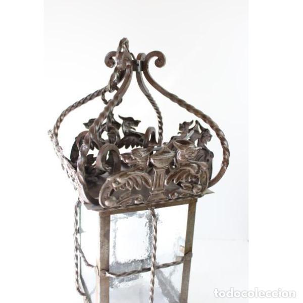 Antigüedades: Antiguo farol de forja - Foto 3 - 161910054