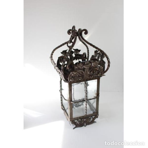 Antigüedades: Antiguo farol de forja - Foto 4 - 161910054