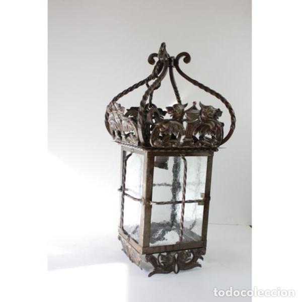 Antigüedades: Antiguo farol de forja - Foto 5 - 161910054
