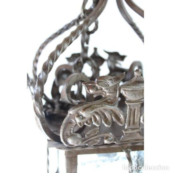 Antigüedades: Antiguo farol de forja - Foto 6 - 161910054