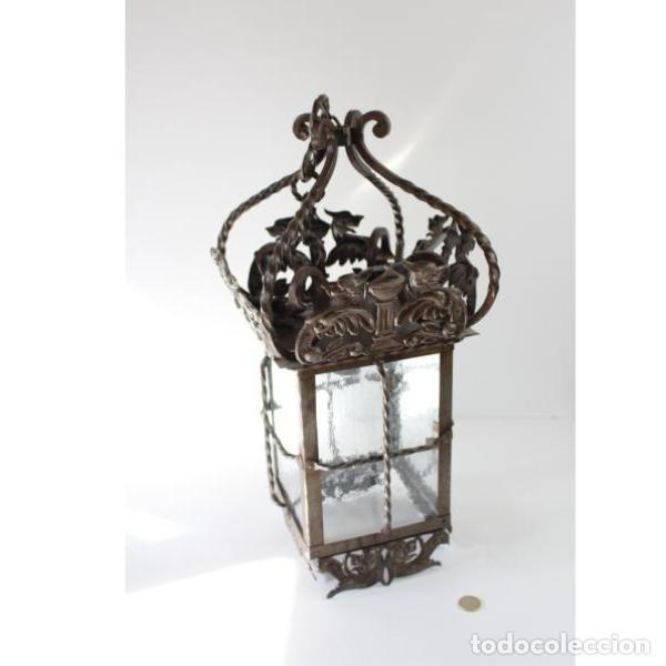 Antigüedades: Antiguo farol de forja - Foto 7 - 161910054
