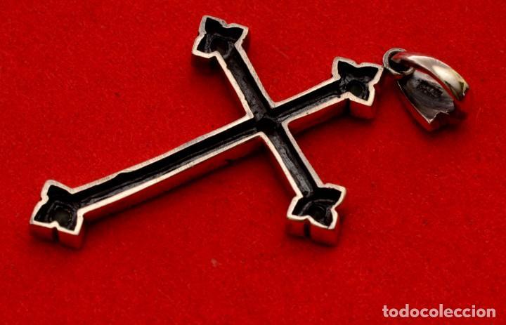 Antigüedades: CRUZ DE PLATA CON PEDRERÍA - Foto 2 - 161918318