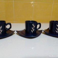 Antigüedades: TRES TAZAS DE CAFE. Lote 161924006