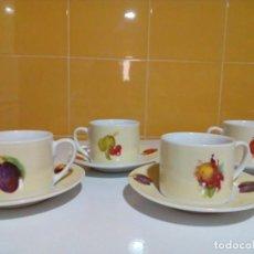 Antigüedades: CUATRO TAZAS DE CAFE MUY BONITAS. Lote 161924198
