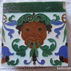 Antiguidades: AZULEJO ANTIGUO MENSAQUE. Lote 161939710