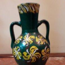Antigüedades: FLORERO DE TERRACOTA ESMALTADO . Lote 161950002