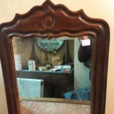 Antigüedades: ESPEJO MADERA DE CAOBA . Lote 161951398