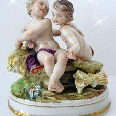 Antigüedades: FIGURA EN PORCELANA HISPANIA. Lote 161979586