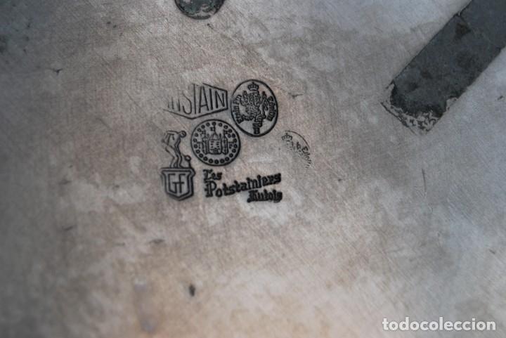 Antigüedades: PLATO DE ESTAÑO - BANDEJA - DECORACIÓN FLORAL - ESTILO MODERNISTA - LES POTSTAINIERS HUTOIS -BÉLGICA - Foto 11 - 161982842