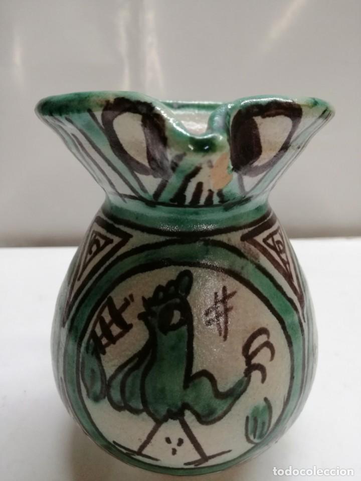 JARRA DE CERÁMICA DE TERUEL. PUNTER R-6.12 CM. (Antigüedades - Porcelanas y Cerámicas - Teruel)
