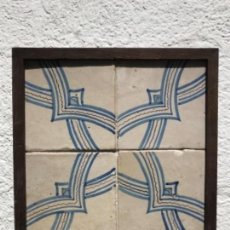 Antigüedades: AZULEJOS CATALAN S.XVIII ENMARCADO.. Lote 161993042