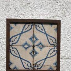 Antigüedades: AZULEJOS CATALAN S.XIX ENMARCADO.. Lote 161993718