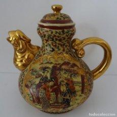 Antigüedades: ANTIGUA TETERA EN PORCELANA ESTILO SATSUMA . Lote 162012146