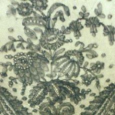 Antigüedades: ANTIGUO ENCAJE DE CHANTILLY 7 METROS S. XIX. Lote 162044714