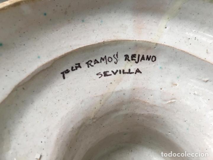 Antigüedades: ESPECTACULAR TINAJA, JARRON, DE MUSEO, RAMOS REJANO, DE TRIANA CON DON QUIJOTE DE LA MANCHA(SEVILLA) - Foto 4 - 162106170