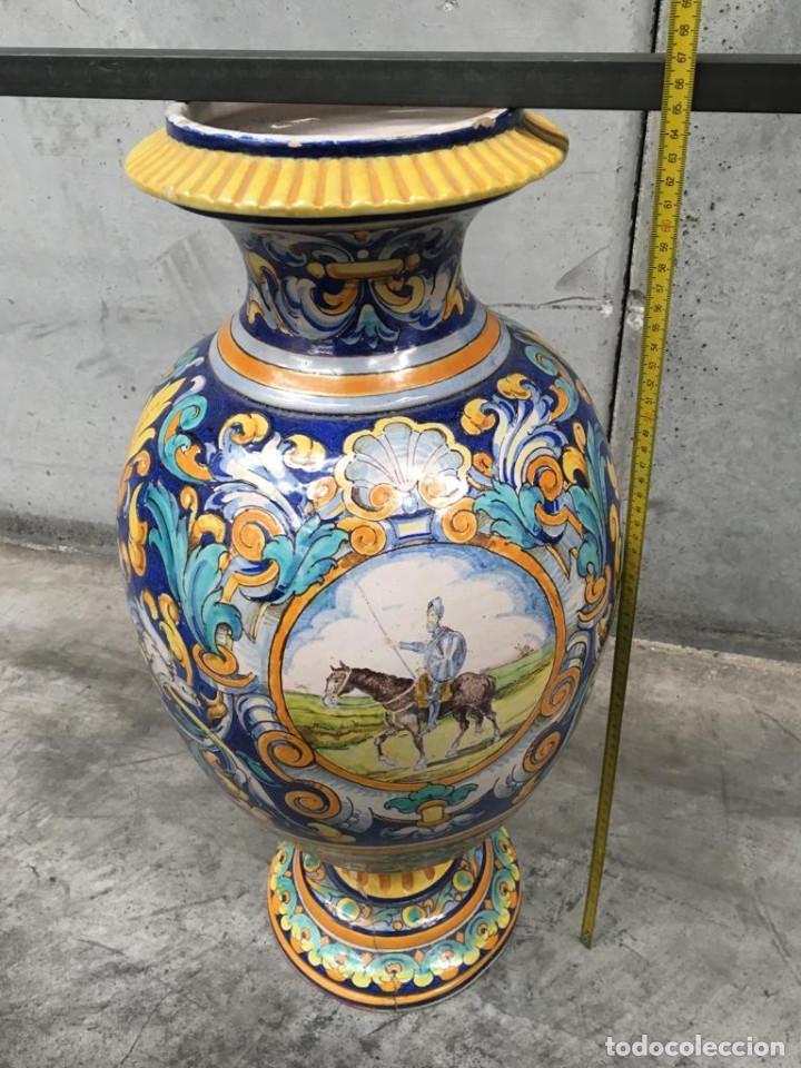 Antigüedades: ESPECTACULAR TINAJA, JARRON, DE MUSEO, RAMOS REJANO, DE TRIANA CON DON QUIJOTE DE LA MANCHA(SEVILLA) - Foto 12 - 162106170