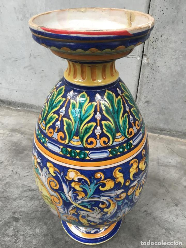 Antigüedades: ESPECTACULAR TINAJA, JARRON, DE MUSEO, RAMOS REJANO, DE TRIANA CON DON QUIJOTE DE LA MANCHA(SEVILLA) - Foto 15 - 162106170