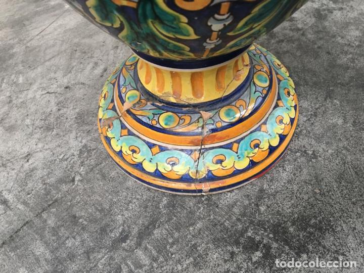 Antigüedades: ESPECTACULAR TINAJA, JARRON, DE MUSEO, RAMOS REJANO, DE TRIANA CON DON QUIJOTE DE LA MANCHA(SEVILLA) - Foto 20 - 162106170