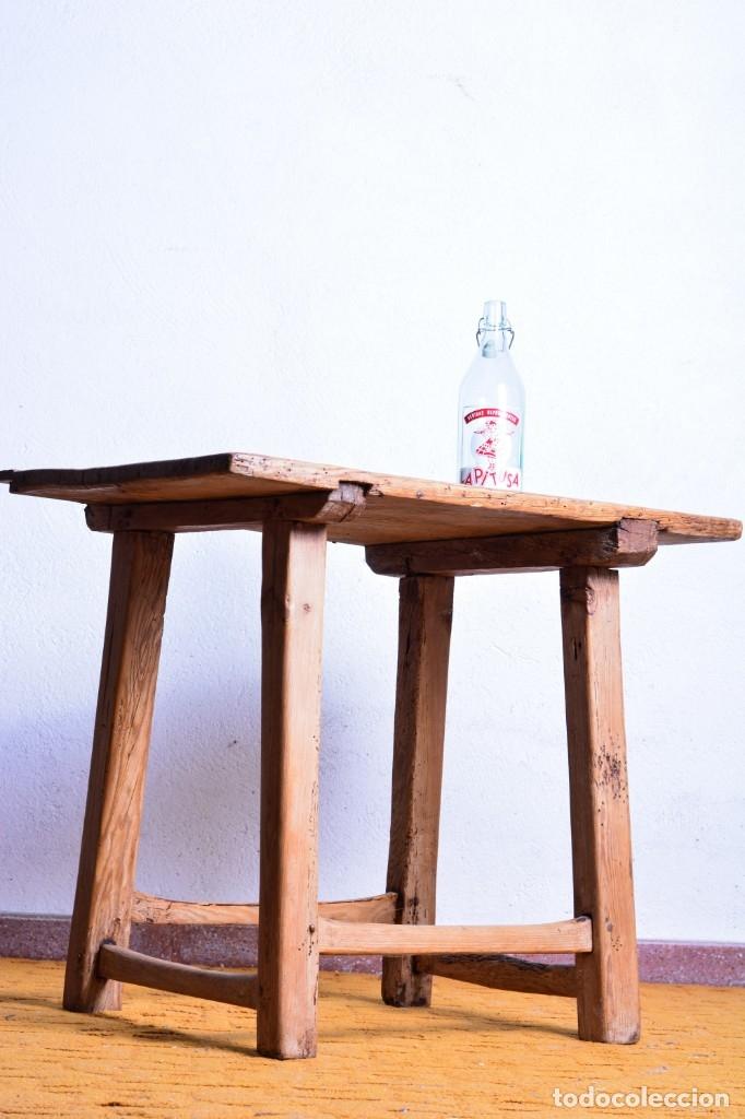 Antigüedades: Mesa tocinera de madera - Antigua mesa matancera - Estilo rústico, casa pueblo, rural - Foto 2 - 45696974