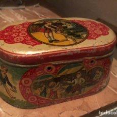 Antigüedades: CAJA METAL LITOGRAFIADA AÑOS 1920 ORIGINAL. Lote 162151076