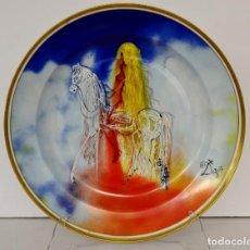 Antigüedades: DALÍ, PLATO GRANDE PORCELANA. Lote 162175470