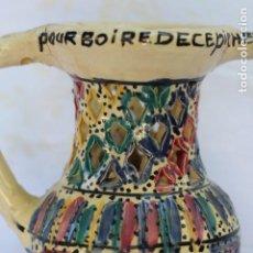 Antigüedades: ANTIGUA JARRA CERÁMICA DE ENGAÑO DE FRANCIA. Lote 162187214