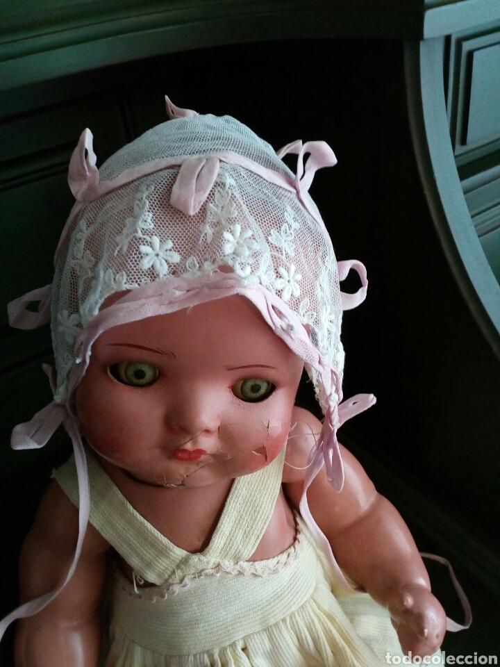 Antigüedades: Gorro de bebe de encaje y seda rosa . Años 1800-1900 - Foto 4 - 162282522