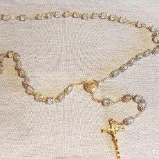 Antigüedades: GRAN ROSARIO DE 57 CM / PEDRERÍA TIPO CRISTAL / MUY BONITO / EN PERFECTO ESTADO. Lote 162288974