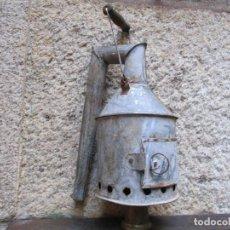 Antigüedades: RARO AZUFRADOR DESINFECCION DE TONELES Y BARRICAS - EN CHAPA ZINCADA, HACIA 1940/50, VINO + INFO. Lote 162294662