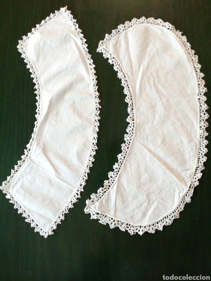 Antigüedades: Lote de 2 cuellos de algodon y puntilla de bolillos , años 1800-1900 - Foto 3 - 162305522