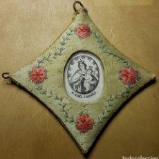 Antigüedades: MAGNIFICO GRAN DETENTE ESCAPULARIO VIRGEN DEL CARMEN. Lote 162322700