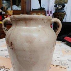 Antigüedades: ORZA ESMALTADA DE CERÁMICA VASCA 26X24 CTMS. Lote 162344310