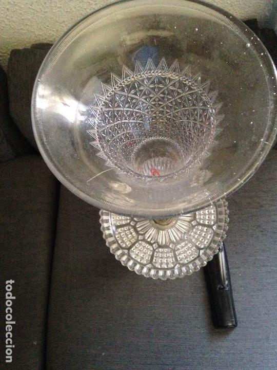Antigüedades: Centro cristal soplado xix - Foto 2 - 162365386