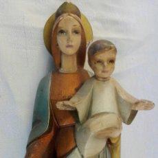 Antigüedades: ANTIGUA FIGURA O IMAGEN PARA LA PARED VIRGEN MARIA ESTILO ART DECO, MIDE 40 CM DE LARGO. Lote 162394276