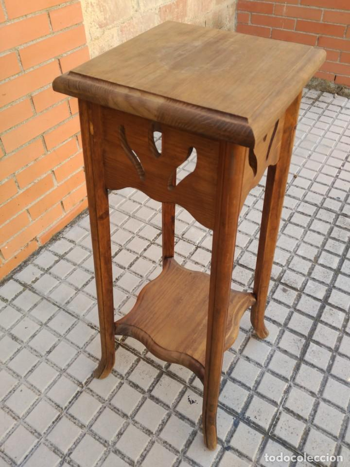 Antigüedades: Pedestal macetero en madera - Foto 2 - 162415454