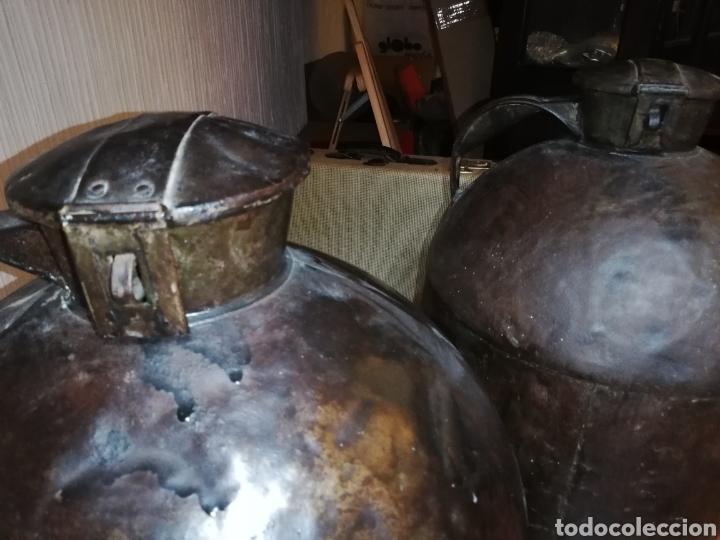 Antigüedades: Excelente pareja de lecheras de hierro - Foto 4 - 162427022