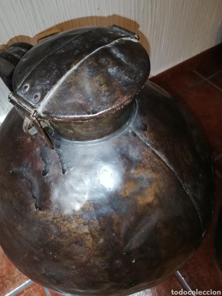 Antigüedades: Excelente pareja de lecheras de hierro - Foto 5 - 162427022