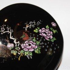 Antigüedades: ANTIGUA CAJA CAJITA JOYERO PORCELANA JAPON AVES Y FLORES PAVO REAL AVE PARAISO. Lote 162427906