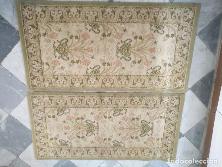 2 ALFOMBRAS - ANTIGUA PAREJA DE ALFOMBRAS IMPERIALES DE LANA 117 X 60 CM (Antigüedades - Hogar y Decoración - Alfombras Antiguas)