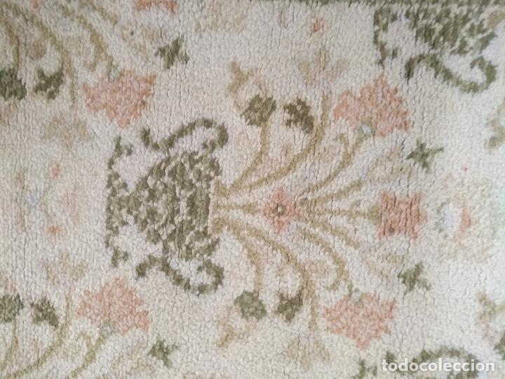 Antigüedades: 2 ALFOMBRAS - ANTIGUA PAREJA DE ALFOMBRAS IMPERIALES DE LANA 117 X 60 CM - Foto 4 - 162447990